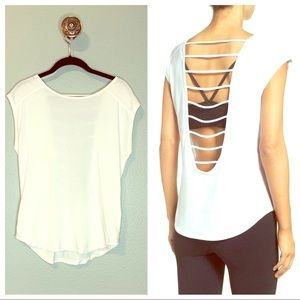 Sell White cutout Back Top Shirt Size Small